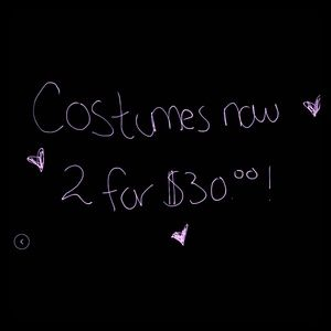 All halloween costumes 2 for 30